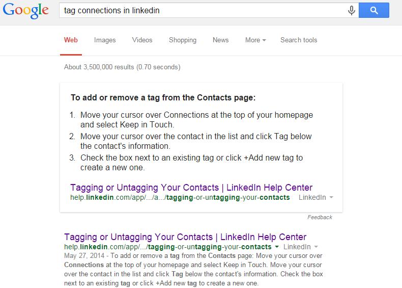 linkedin tags
